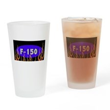 F150 Flames Drinking Glass