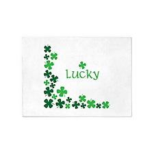 Lucky Clovers 5'x7'Area Rug