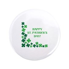 "Happy St Patrick's Day 3.5"" Button (100 pack)"
