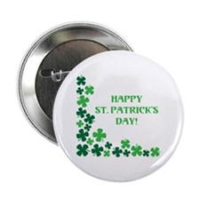 "Happy St Patrick's Day 2.25"" Button (10 pack)"