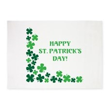 Happy St Patrick's Day 5'x7'Area Rug