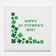 Happy St Patrick's Day Tile Coaster