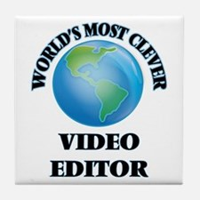 World's Most Clever Video Editor Tile Coaster
