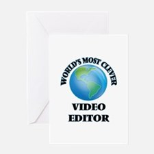 World's Most Clever Video Editor Greeting Cards
