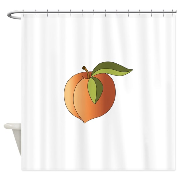 ripe peach shower curtain by hopscotch16