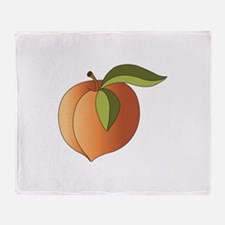 Ripe Peach Throw Blanket