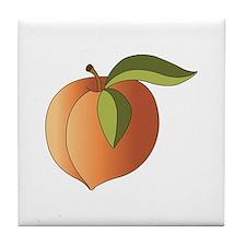 Ripe Peach Tile Coaster