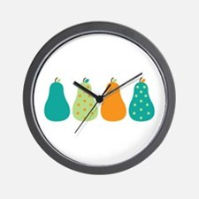 Pears Fruits Wall Clock