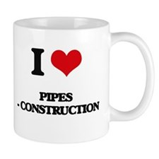 I Love Pipes - Construction Mugs