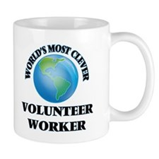 World's Most Clever Volunteer Worker Mugs