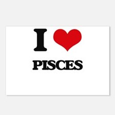 I Love Pisces Postcards (Package of 8)