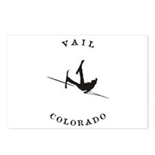 Vail Colorado Funny Falling Skier Postcards (Packa