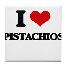 I Love Pistachios Tile Coaster
