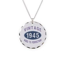 1945 Aged To Perfection Necklace Circle Charm