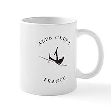 Alpe d'Huez France Funny Falling Skier Mugs