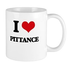 I Love Pittance Mugs