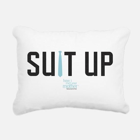 HIMYM Suit Up Rectangular Canvas Pillow