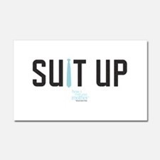 HIMYM Suit Up Car Magnet 20 x 12