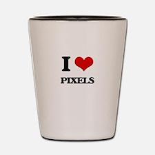 I Love Pixels Shot Glass
