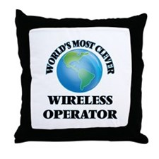 World's Most Clever Wireless Operator Throw Pillow