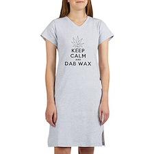 Keep Calm and Dab Wax art Women's Nightshirt