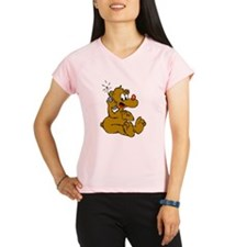 Bear On Phone Performance Dry T-Shirt