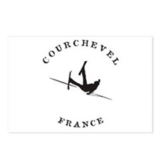 Courchevel France Funny Falling Skier Postcards (P
