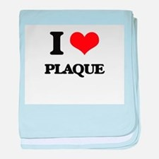 I Love Plaque baby blanket