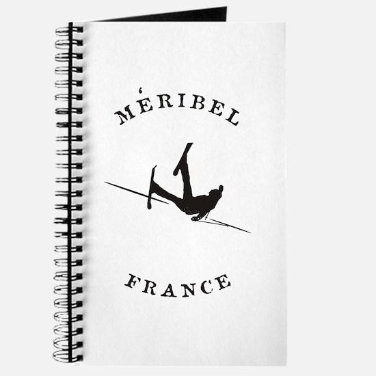 Meribel France Funny Falling Skier Journal