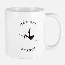 Meribel France Funny Falling Skier Mugs