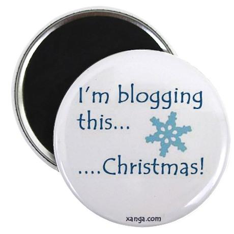 Blogging Christmas Magnet