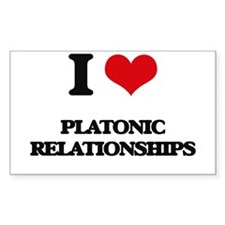 I Love Platonic Relationships Decal