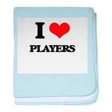 I Love Players baby blanket