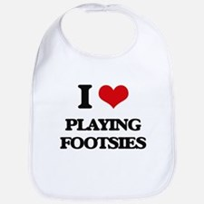 I Love Playing Footsies Bib