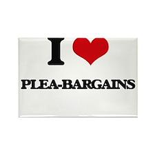 I Love Plea-Bargains Magnets