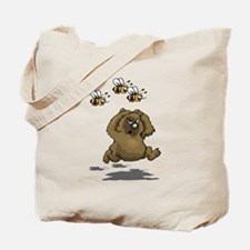 Bear Running From Bees Tote Bag