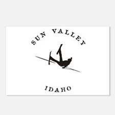Sun Valley Idaho Funny Falling Skier Postcards (Pa