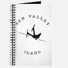 Sun Valley Idaho Funny Falling Skier Journal