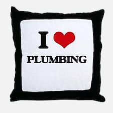 I Love Plumbing Throw Pillow