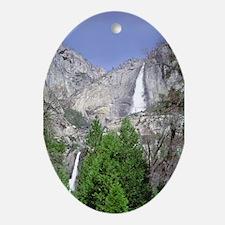 Yosemite Falls Upper & Lower Oval Ornament