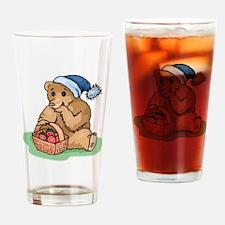 Bear Eating Strawberries Drinking Glass