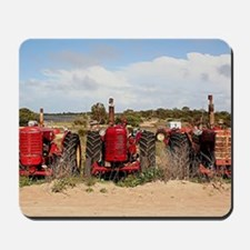 Old farm tractors machinery in country S Mousepad