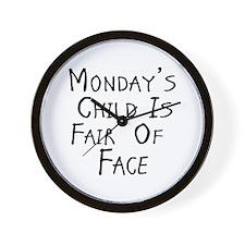 Monday's Child W Wall Clock