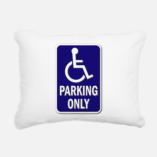 Parking Only - Sign with Rectangular Canvas Pillow