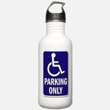 Parking Only - Sign wi Water Bottle