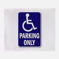 Parking Only - Sign without Text Throw Blanket