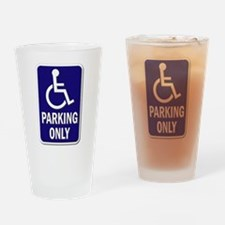 Parking Only - Sign without Text Drinking Glass