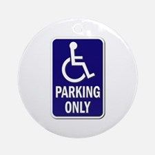 Parking Only - Sign Without Text Ornament (round)