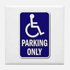 Parking Only - Sign Without Text Tile Coaster