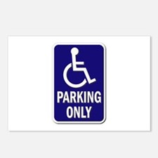 Parking Only - Sign Witho Postcards (package Of 8)